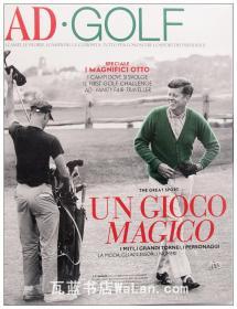AD.Golf杂志 意大利语版 建筑辑要 安邸 建筑文摘 样板房装饰陈列外文杂志 ARCHITECTURAL DIGEST UN GIOCO MAGICO