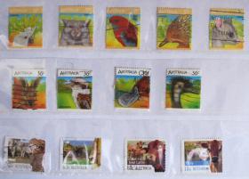 澳大利亚邮票----动物(信销票)
