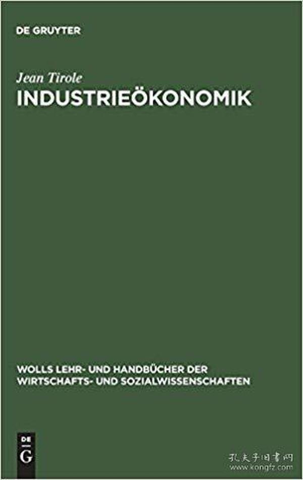 Industrieökonomik (Wolls Lehr- Und Handbucher der Wirtschafts- Und Sozialwissen) (German) Hardcover