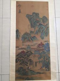 古代名家手绘老娟山水画,价格不高