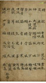 医鉴抄 中医,医学类书籍 146页 抄本