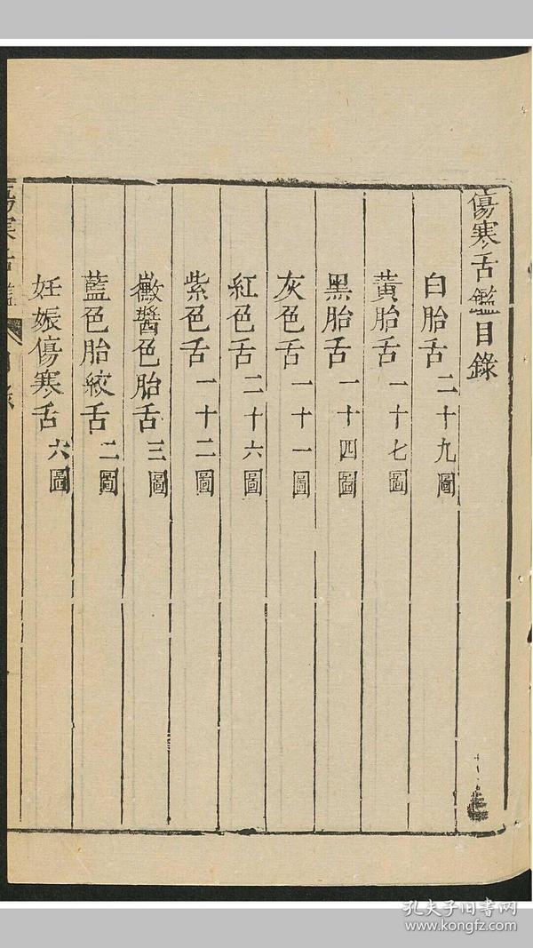 伤寒舌鉴 1 卷 中医,医学类书籍m 157页 高清
