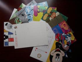 迪士尼明信片 米奇80分邮资图邮资片12全 2016年年历片