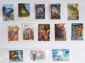 澳大利亚邮票----动物1(信销票)