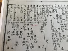 和刻悉昙字记指南钞的A4复印件260张(六卷全),元禄时期中野宗左卫门版