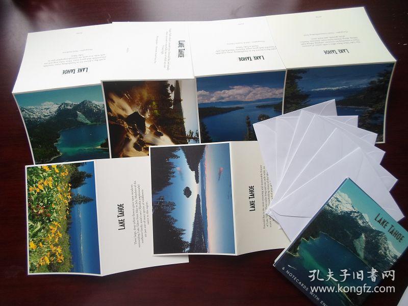 外国太浩湖风光明信片 编码104 6折片6信封