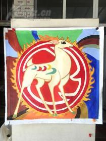 jvf巨幅.,纯手绘油画,100*100,布面纯手绘,