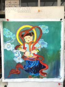 jvf巨幅,纯手绘油画,.100*100,布面纯手绘,