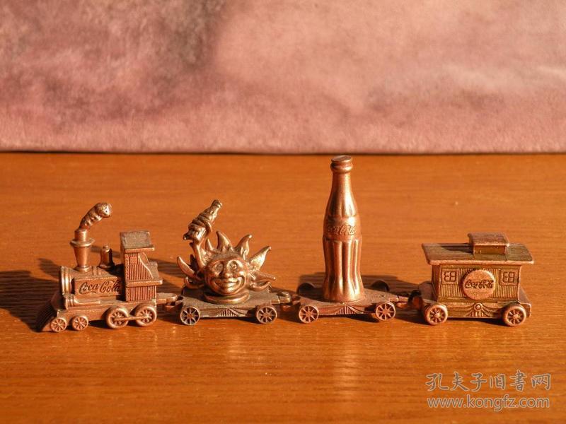 早期 可口可乐铜制小火车玩具