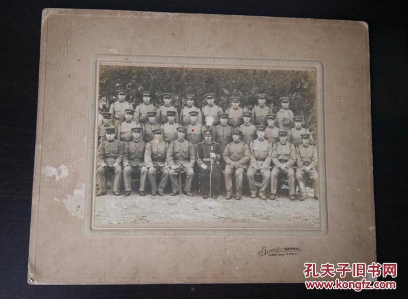 民国老照片, 集体合照 团体照 ,带底板,底板也很珍贵,大尺寸
