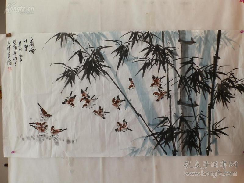 张蒲生 花鸟137*69cm