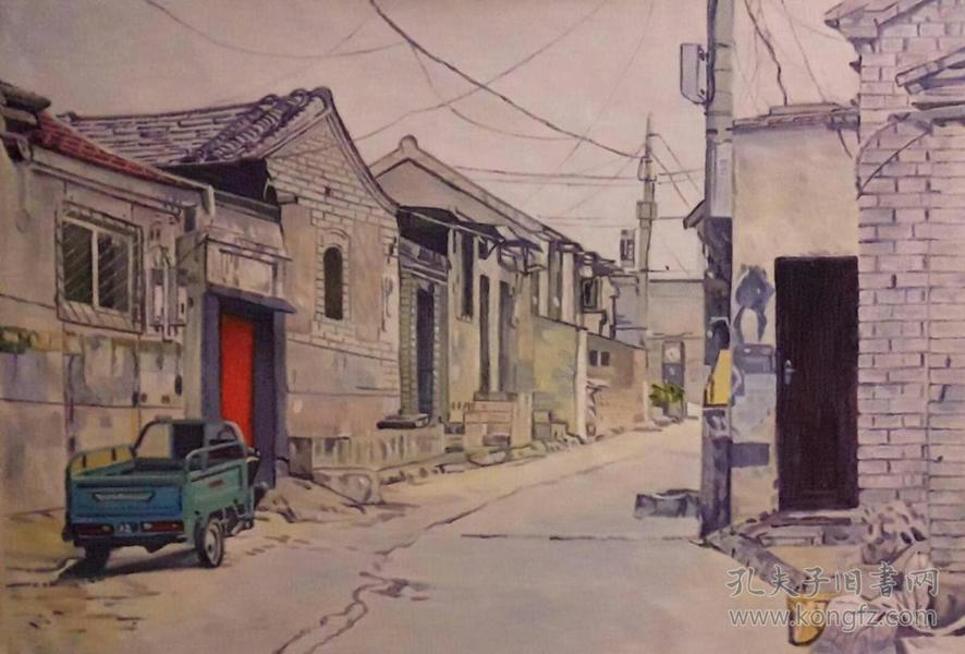 F-2北京油画家范朝霞女士精品油画作品1件(保真)
