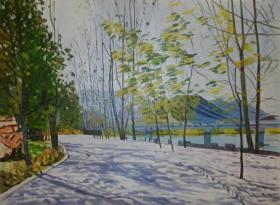 F-3北京油画家范朝霞女士精品油画作品1件(保真)