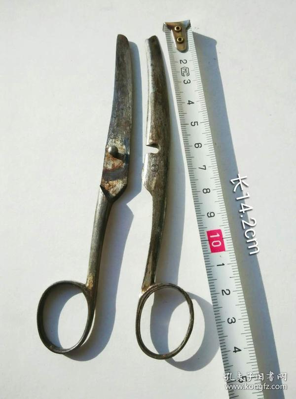 少见个性另类分体式古董老剪刀收藏级带标识字号外国老铁剪子
