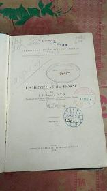 lameness of the horse 马瘸 很多 养马图 英文版 1916年出版
