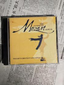 光碟 外国原版CD mozart greatest love songs