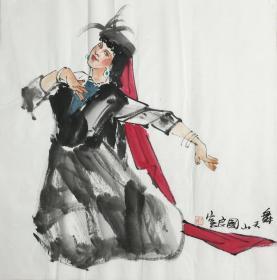 ★【顺丰包邮】【史国良】国家一级画家,中国美协会员、手绘四尺斗方人物画(68*68CM)★1买家自鉴
