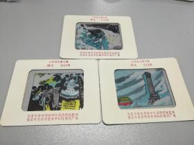 老课本幻灯片【小白花】3全(尺寸14x11cm)