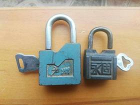 老锁(铸铁),50-----60年代。