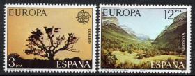 『西班牙邮票』 1977年 欧罗巴 世界遗产国家公园 2全