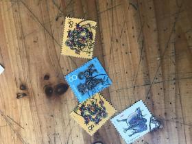 2748: 第一轮生肖龙票 《1982--88年T.102.T124,T107,T,76 (1-1)》邮票5张