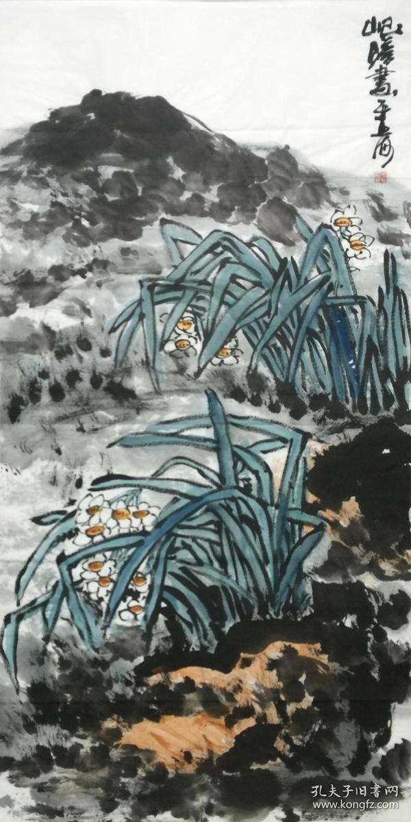 ★【顺丰包邮】、【纯手绘】【朱屺瞻】中美协顾问、国家一级美术师、上海美协常务理事、四尺整张大写意花鸟画(138*68cm)1买家自鉴。