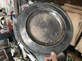 老的盘子,做工精美WM.ROGERS  SILVERPLATE