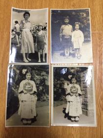 1953年前后日本同一小女孩照片四张合售