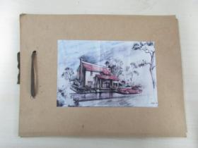 清华大学建筑系旧藏照片资料  5张  尺寸12.5×8.5厘米 尺寸大小不一