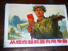 32开文革宣传画 从现在起就要有所准备