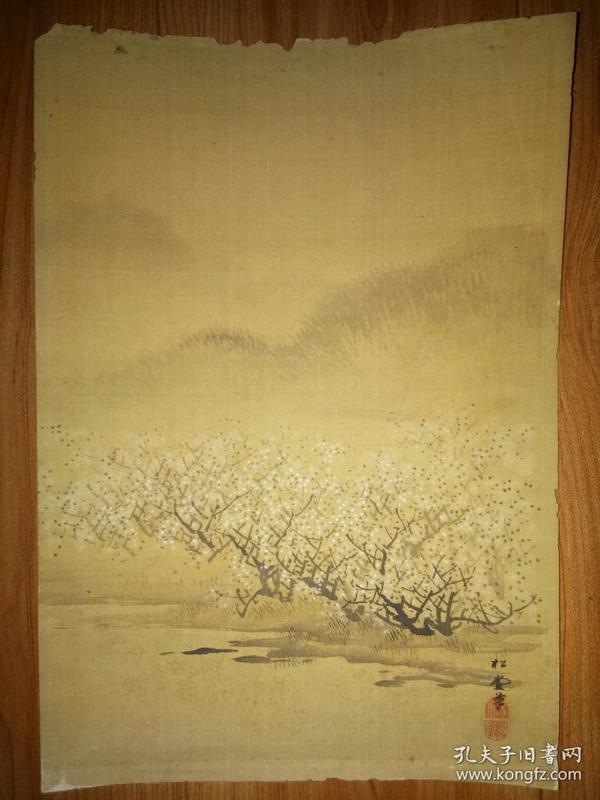 晚清民国册页8种《朱竹》《鹌鹑》《水仙》《梅花》《山水》《花鸟》
