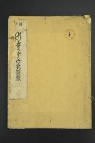 孔网唯一《字母表便览》和刻本 线装1册 一行禅师字母表 字母表颂事 梵文 印度的古典语言。佛教称此语为佛教守护神梵天所造,因此称其为梵语、梵文。大日经阿阇梨真实智品 金刚顶云等文字字样内容