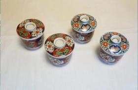 东洋瓷杯4件      陶瓷  日本制