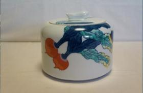 瓜果蔬菜笔筒     陶瓷   日本制