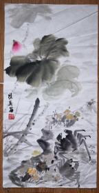 手绘真迹国画:天津知名女画家刘汉英花鸟画