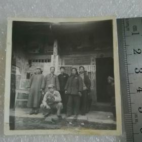 民国老照片;卢山县合影