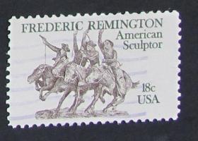 美国邮票-----弗里德里克雷明顿(信销票)