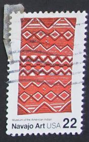 美国邮票-----纳瓦霍毛毯(信销票)