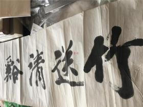 舒芳生书法作品:竹送清溪月