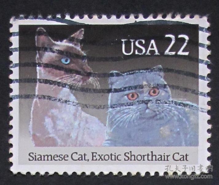 美国邮票----猫(信销票) 2372 1988 200 150