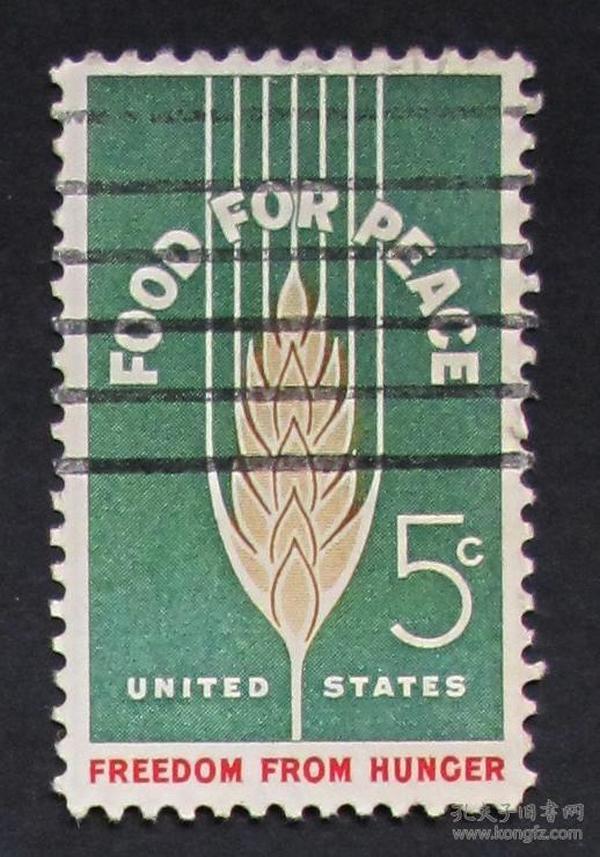 美国邮票-----和平食品(信销票)