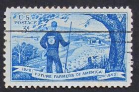 美国邮票----美国未来农民(信销票)