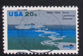美国邮票-----圣劳伦斯河(信销票)