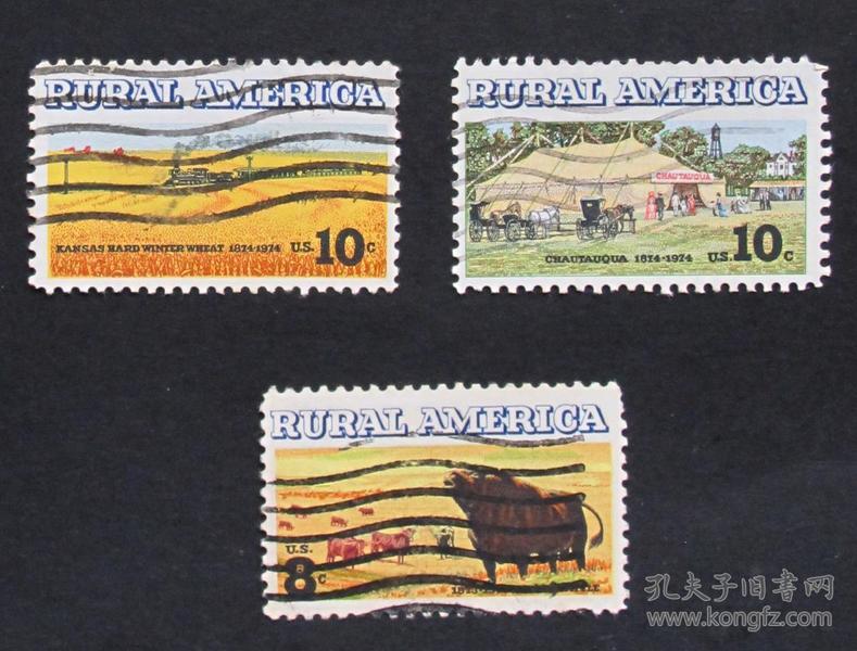 美国邮票-----美国农村(信销票)