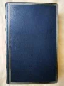 1904年 英文版 全皮装《彭斯诗歌集》 安德鲁朗格编 雕刻版彭斯肖像 32开668页 书口刷金 雕刻版藏书票一枚