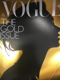 VOGUE UK December 2000 GOLD ISSUE 封面Kate moss 右下有折过角