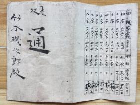 明治38至44(1905-1911)年间日本会议请取款账目单一张
