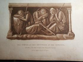 英国伦敦1821年铜板印刷品书票单页