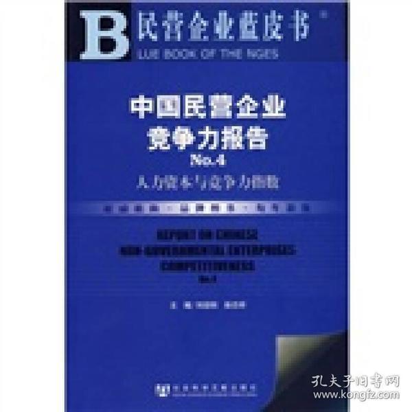 中国民营企业竞争力报告No.4:人力资本与竞争力指数