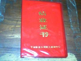 结业证书1986